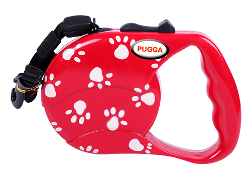 Wholesale Customized print Logo Pure Color Dog Retractable Reflective tape Leash