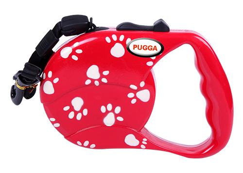Wholesale Customized print Logo Pure Color Dog Retractable Reflective tape Leash