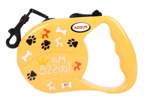 Customized print Logo Pure Color Dog Retractable Reflective tape Leash For Small Dog