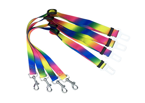 Low MOQ Factory Custom Durable Adjustable Colorful Outdoor Pet Dog Cat Travel Car Safety Seat Belt Leash