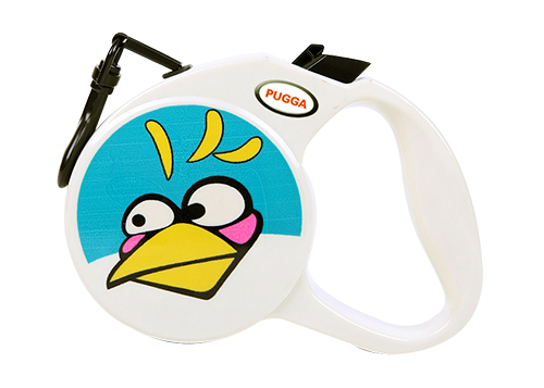 Little bird Smiley face KITTY circle retractable dog leash