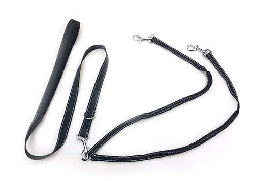 Pugga No Tangle and Soft Handle Pet Led Leash For Double Dog