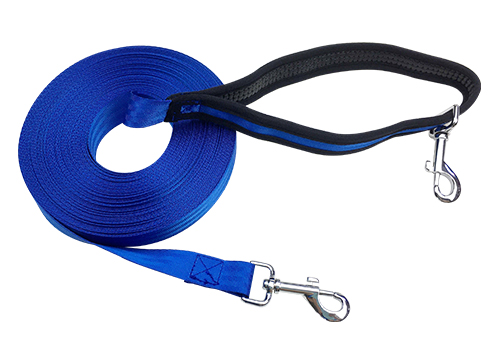 Outdoor Custom Nylon Free Hand 20m Cotton Warp Pet Dog Training Leash With Waist Belt