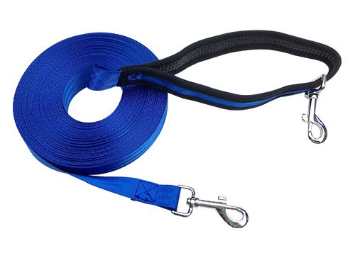 Outdoor Custom Nylon Free Hand 20m Cotton Warp Pet Dog Training Leash With Waist Belt
