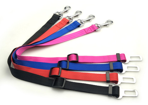 Fancy Strong Adjustable Nylon Outdoor Travel Pet Dog Car Seat Belt Leash