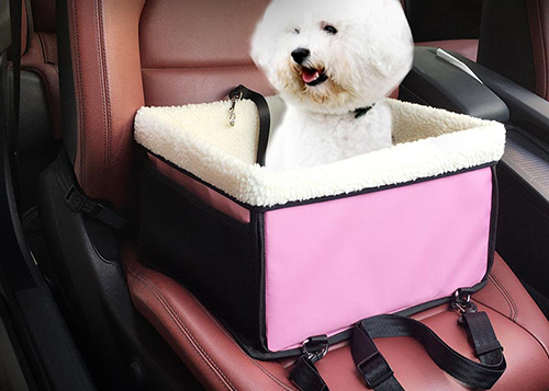Hot Selling Wholesale Dog Pet Cotton Carrier Bag Custom Travel Car Safety Booster Seat With Furry Lining